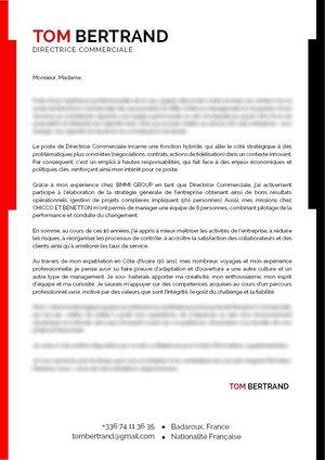 Lettres De Motivation Directeur Commercial Mycvfactory