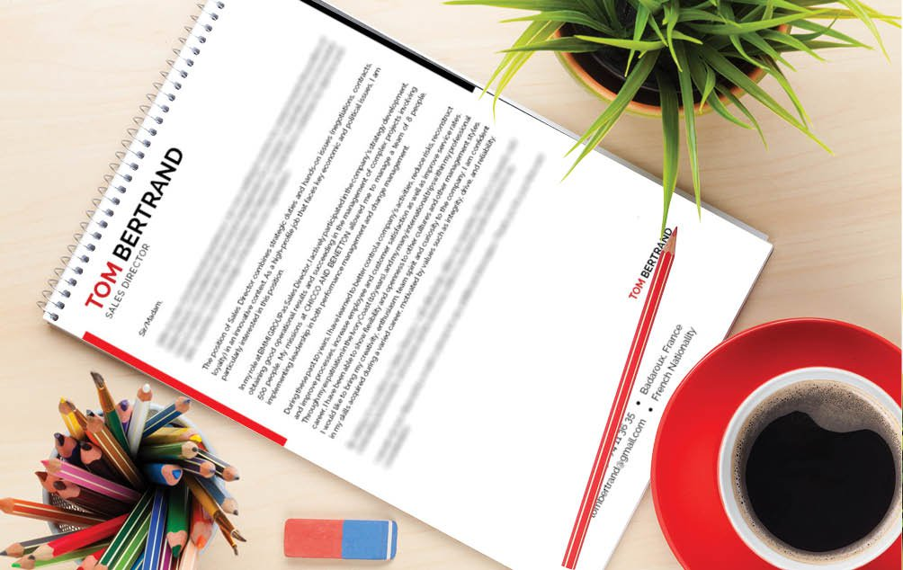 Get that dream job thanks to this professional  cover letter template