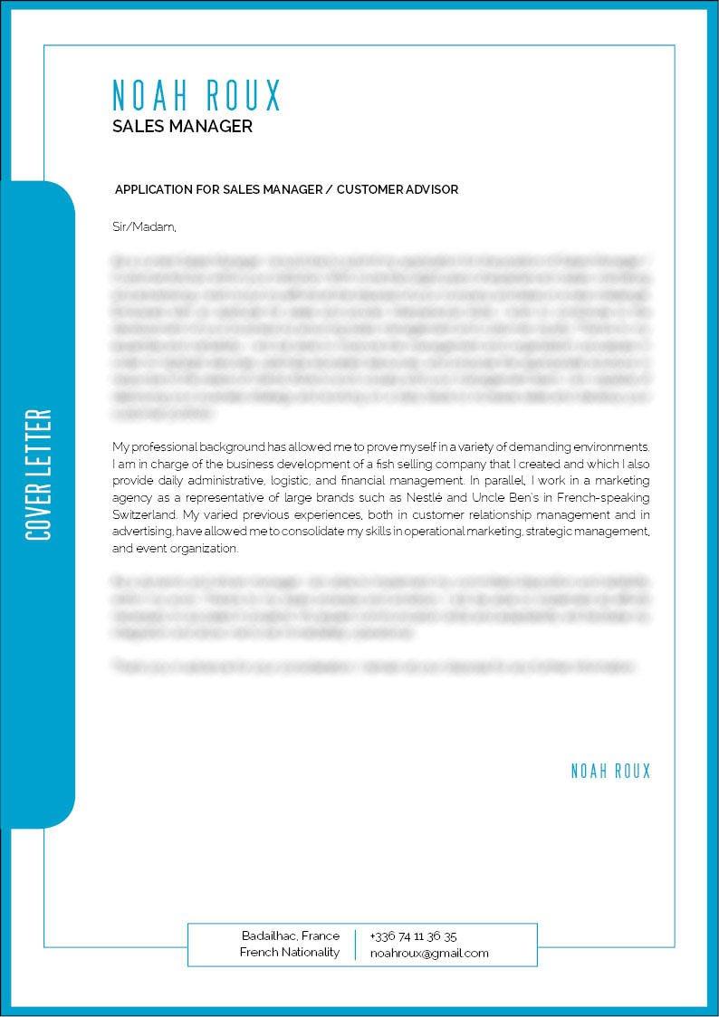 cover letter Sales Assistant · myCVfactory