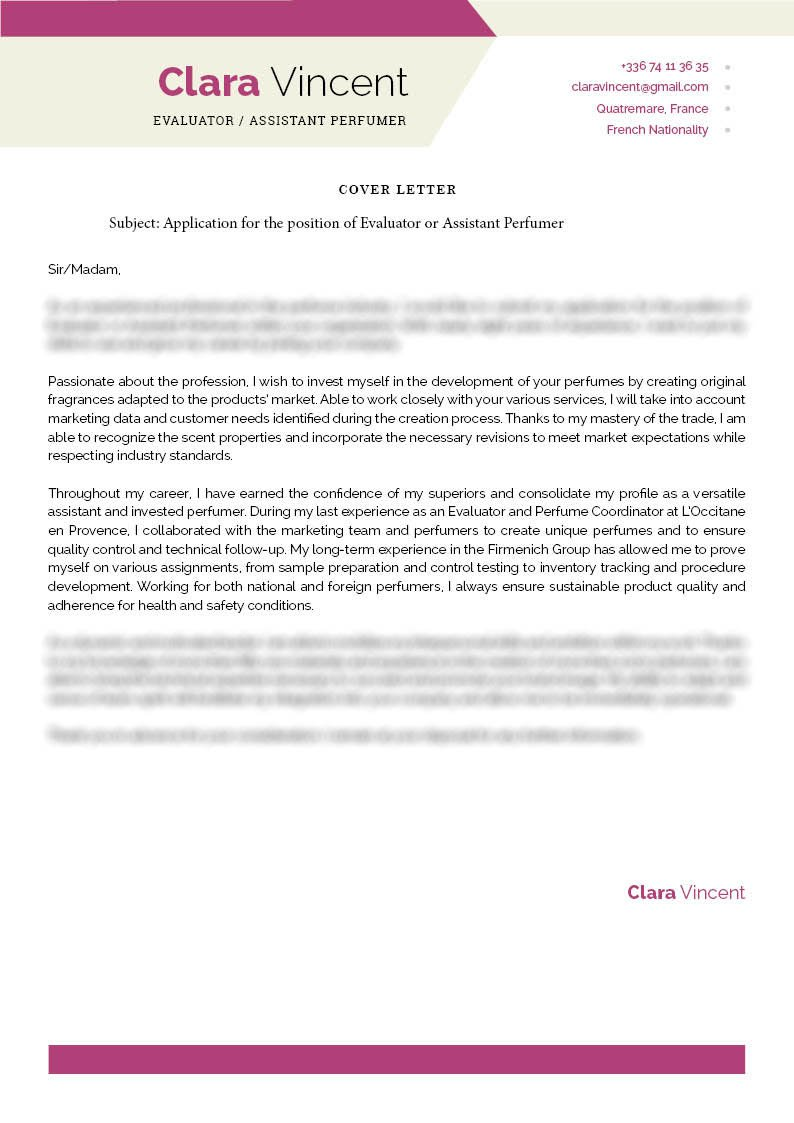 Clean and well-formatted, a great cover letter to land that dream job!