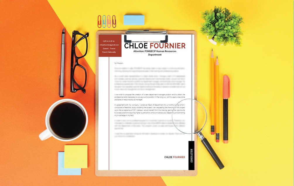 The colors and format will make this  cover letter template stand out from the rest