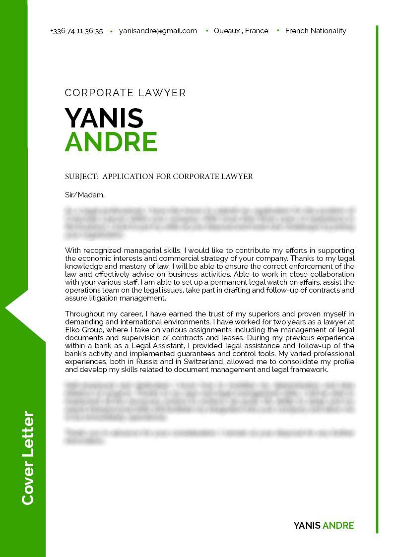 A  cover letter format that is clean and effective with a great lay out