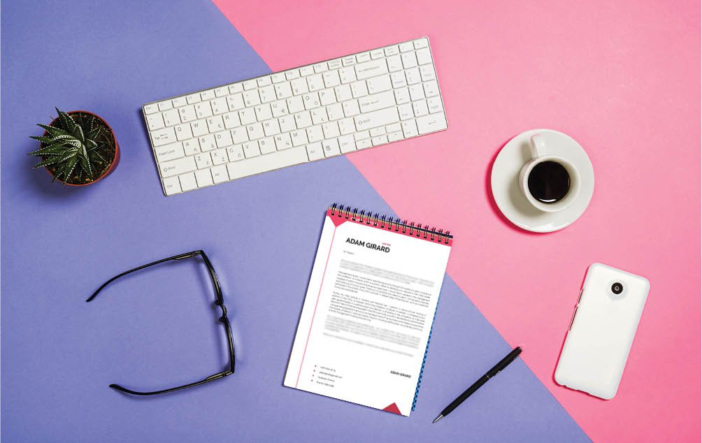 A professional  cover letter perfect for the modern work age