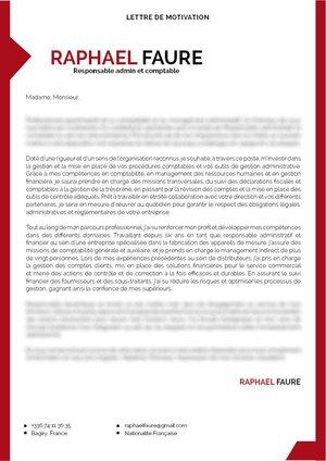 Lettre De Motivation Responsable Administratif Mycvfactory