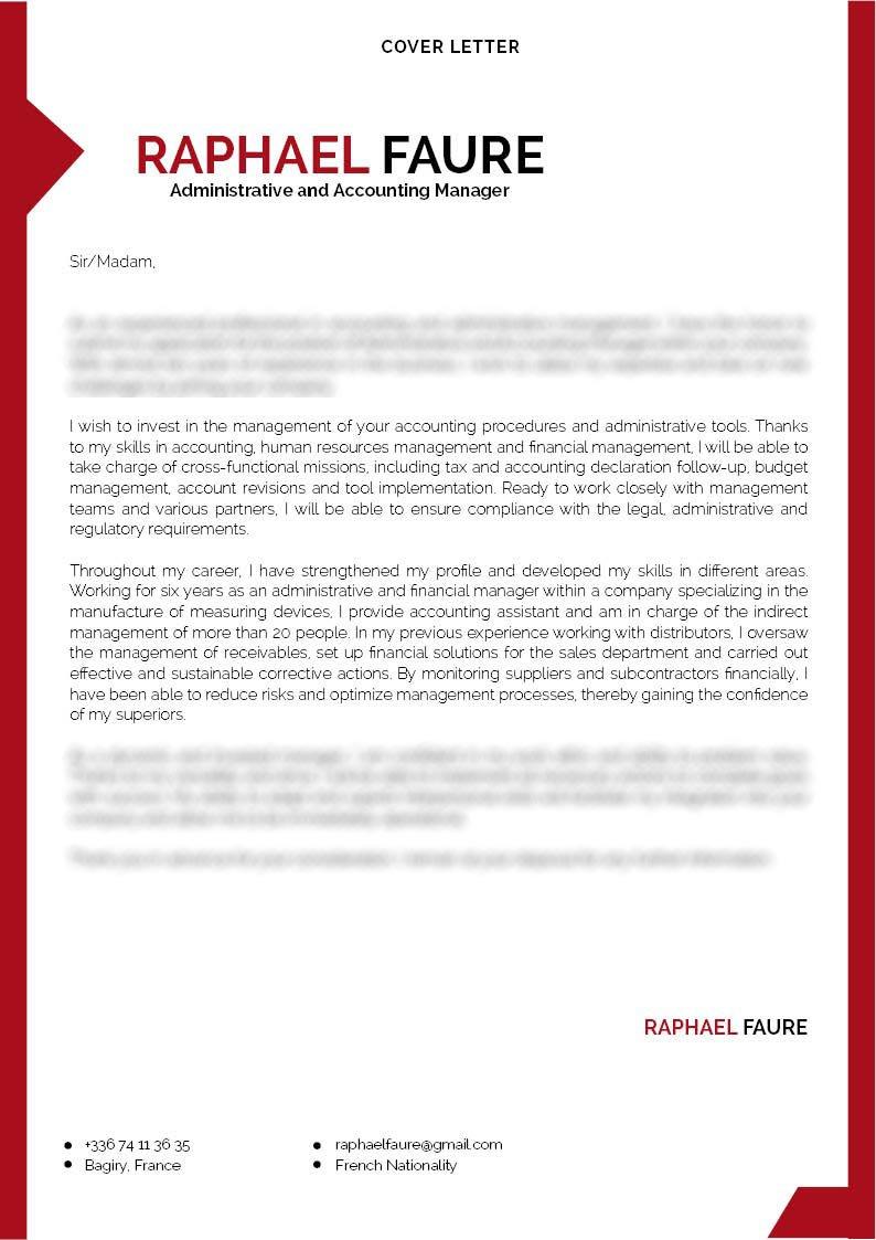 cover letter for Finance · myCVfactory
