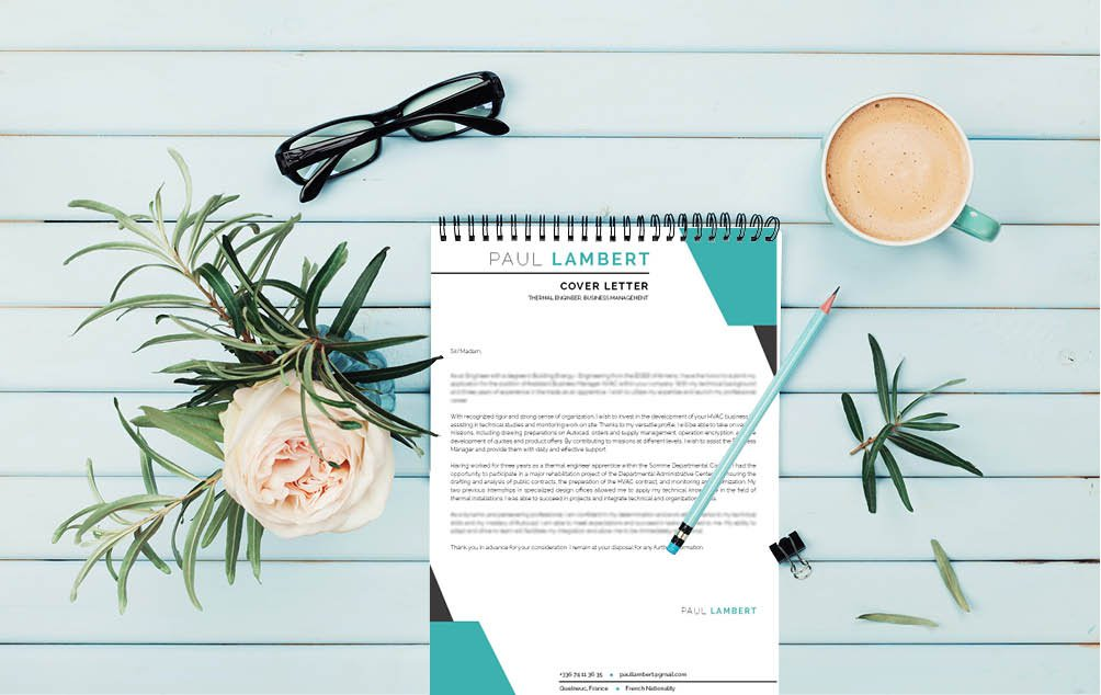 Need a great  cover letter design? Then choose this good resume template