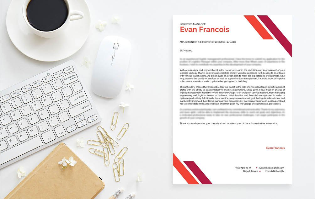 This  cover letter format features a clean and functional design perfect for all job types