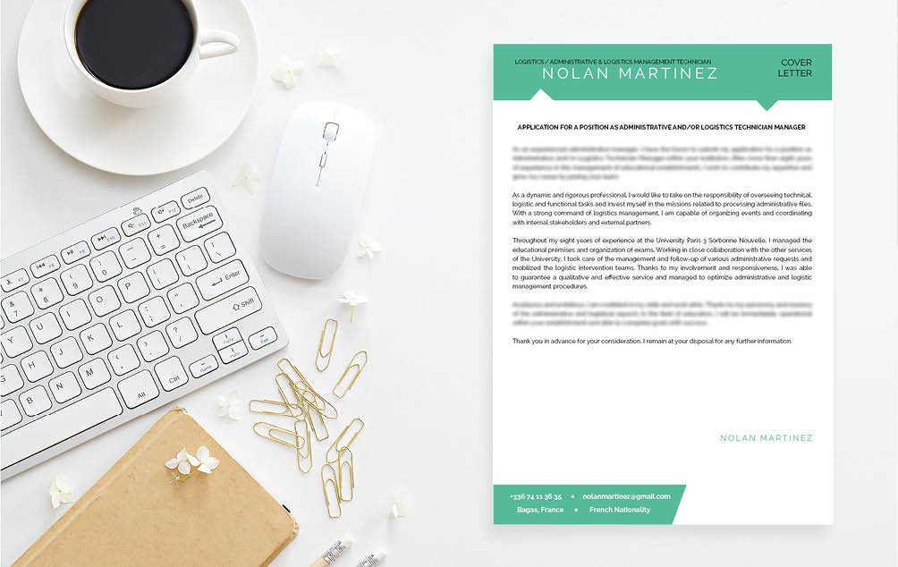 Colors, fonts, and styles are expertly crafted in this great  cover letter template