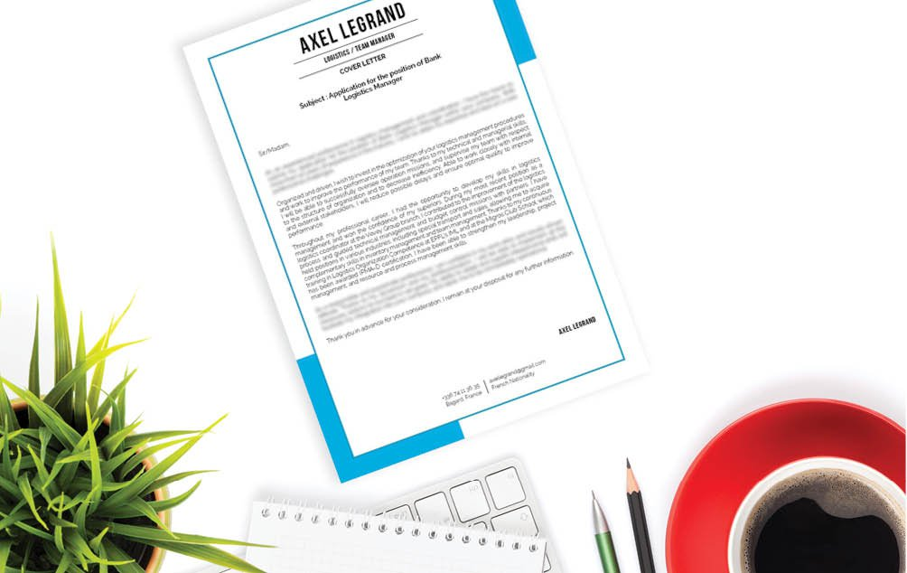 A great style choice of colors and shapes give this business resume template a killer look