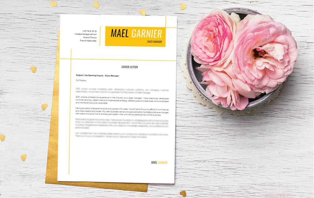 Look for a professional  cover letter? Then this cover letter template is a sure winner