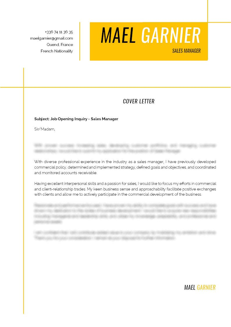 This  cover letter template is expertly formatted to show off each section perfectly