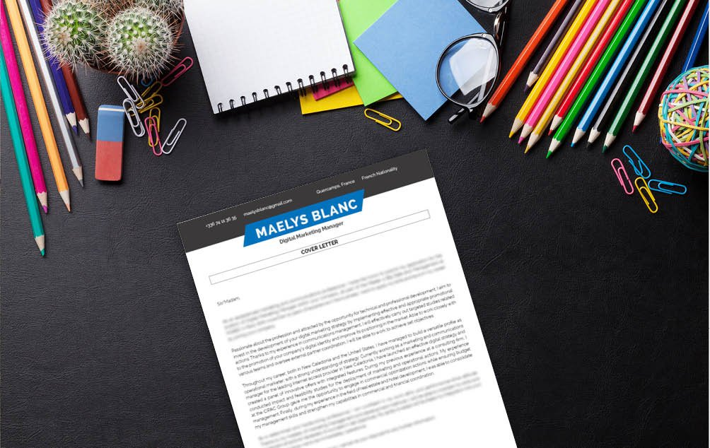 This  cover letter has what it take to become the best cover letter template for marketing professionals