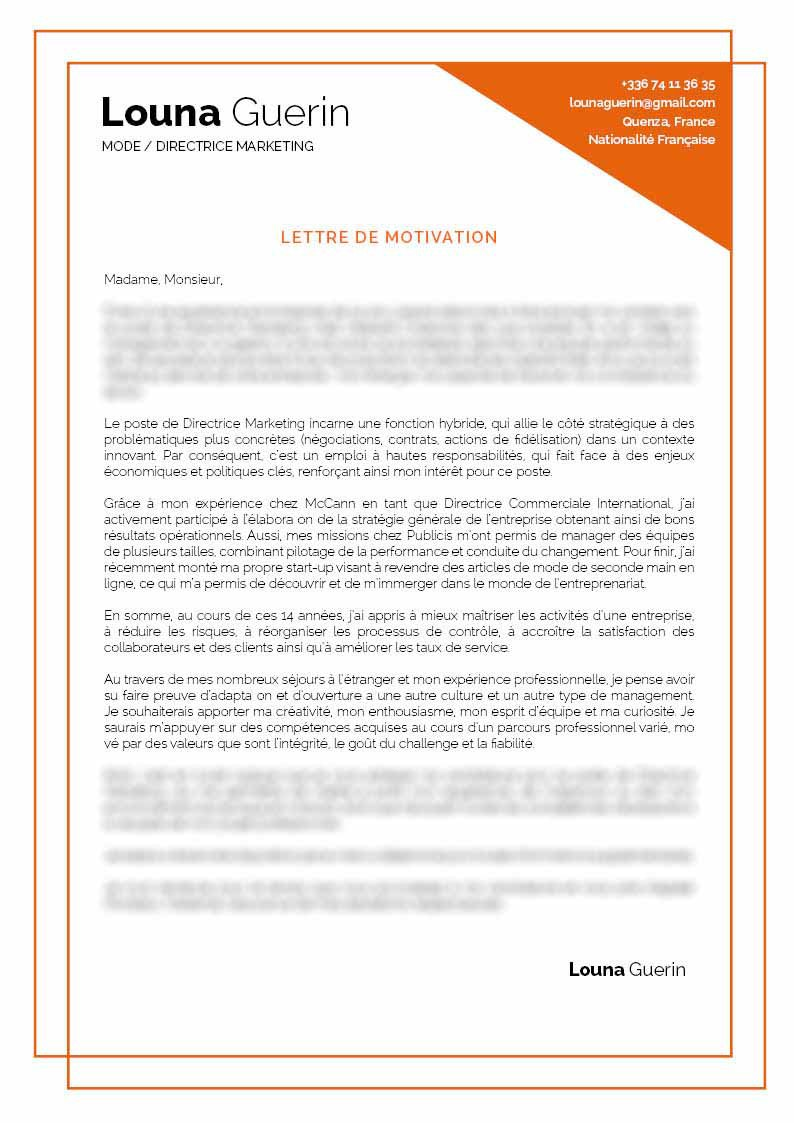 Lettre De Motivation Creative Lettre De Motivation Dynamique Et