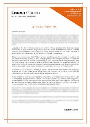 Lettre De Motivation Directeur Marketing Mycvfactory