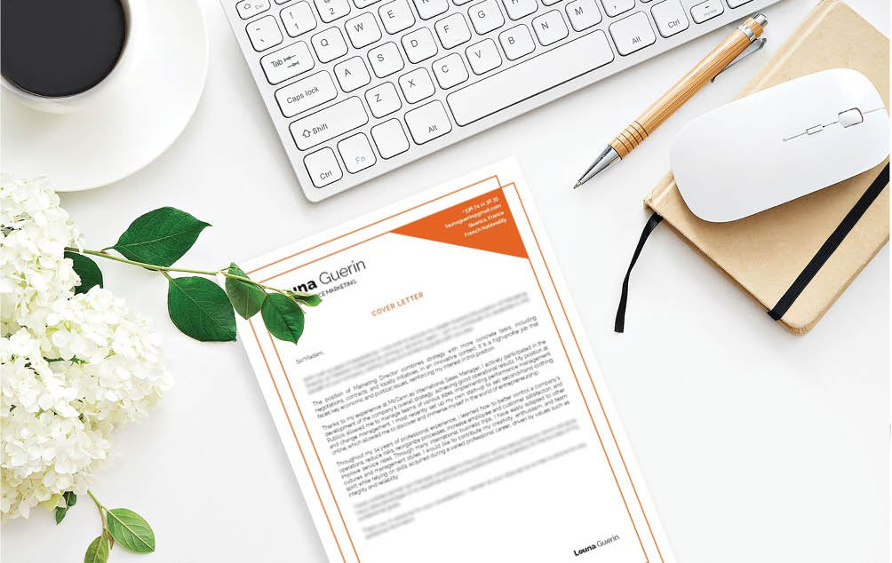 Every section is very well written in this professional  cover letter template