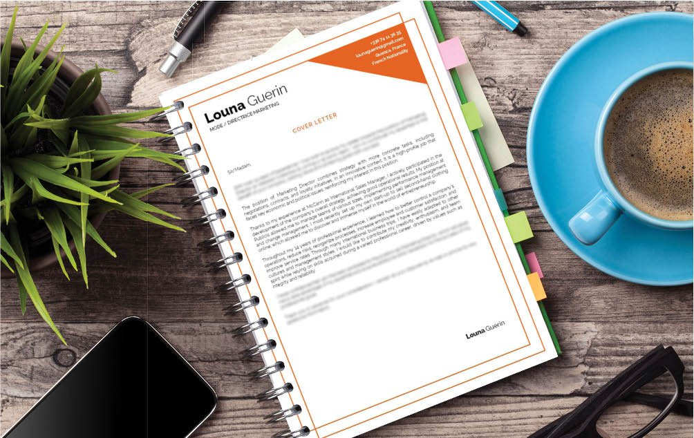 Colors and shapes make this professional  cover letter template the perfect blend of creative and functional