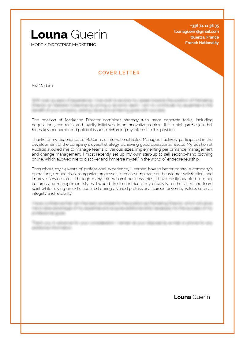 All the sections written in this professional  cover letter template is perfectly tailored for the modern job seeker
