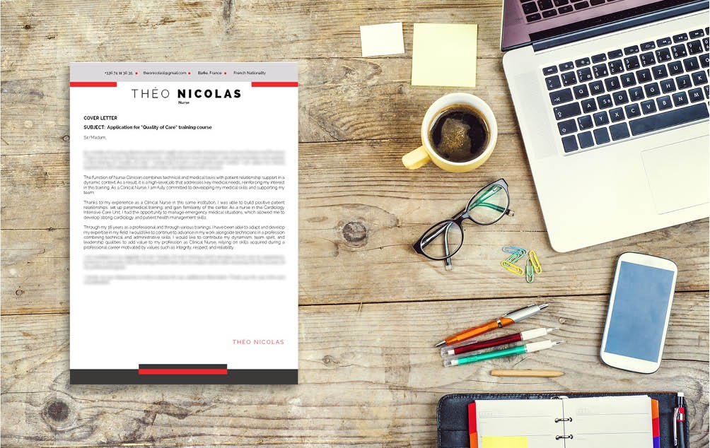 A great mix of cretivity and functionality lends this  cover letter template a near perfect design