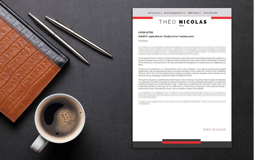 Simple set of colors and styles, a great cover letter template