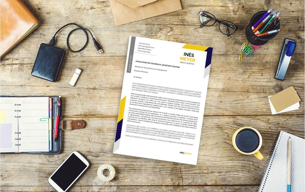 This simple cover letter format comes with a creative choice of colors and styles that will surely make you stand out