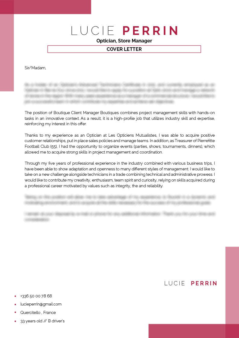 A Clean Format Functional Design The Best Kind Of Professional Cover Letter