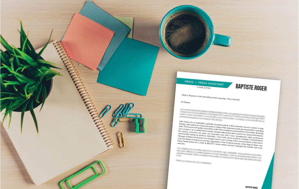 All essential information is readily available withing this standard  cover letter template