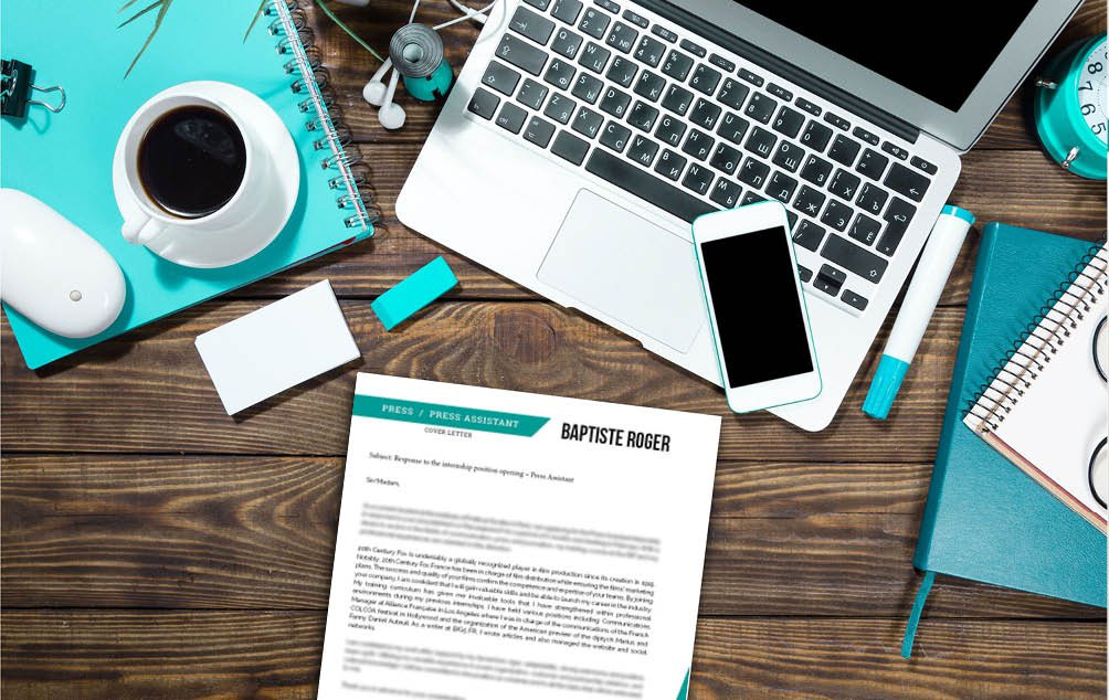 A standard cover letter template with a great choice of professional styles