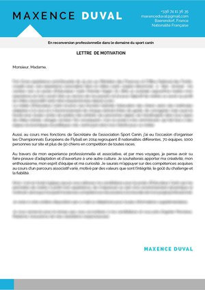 Lettre De Motivation Reconversion Pro Mycvfactory