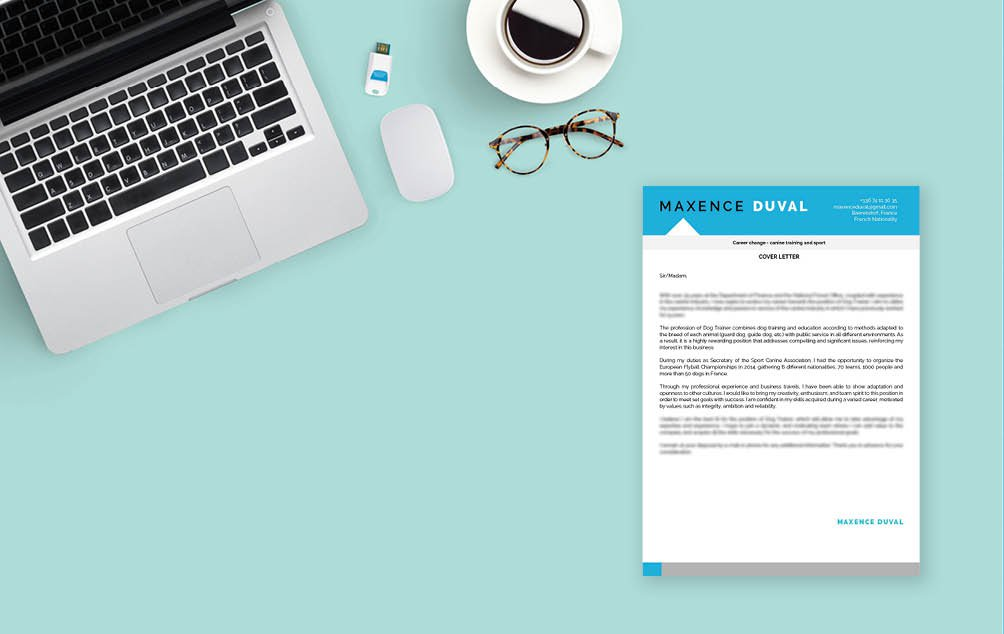 A superb design and functionality -- this is one effective cover letter template