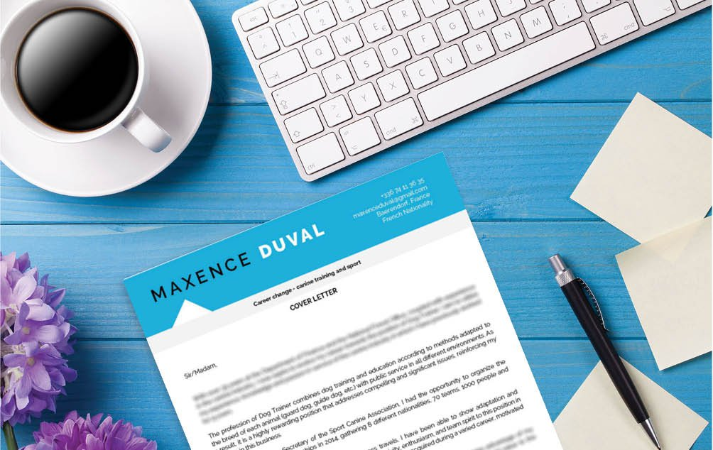 An effective  cover letter template fit for the aspiring trainee