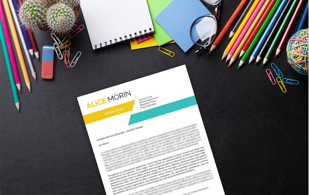 A simple  cover letter format that speaks professionally towards the reader