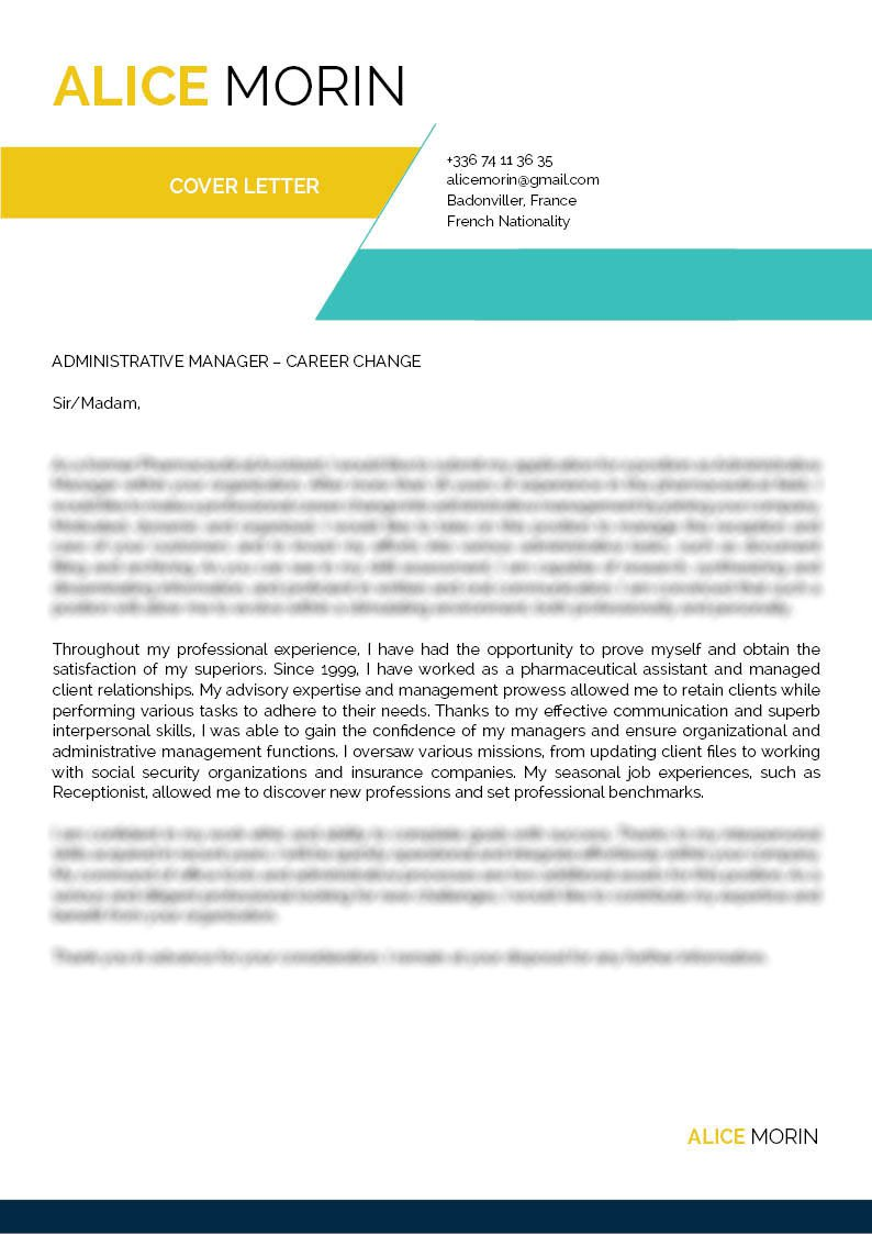 A simple  cover letter format that provides more than enouhg functionality for the modern work age