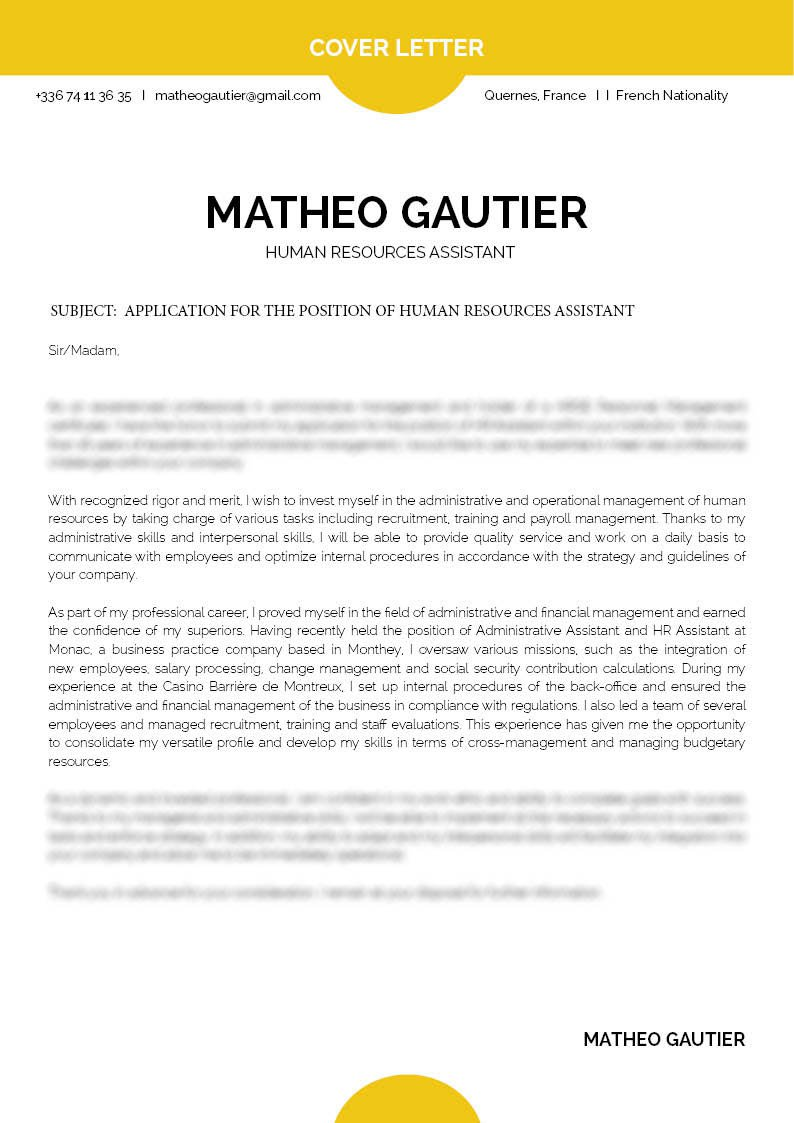 Cover Letter To Human Resources from media.mycvfactory.com