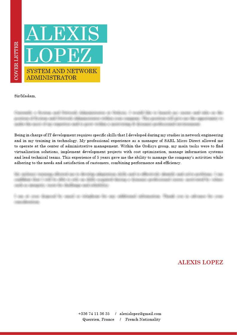 cover letter IS · myCVfactory