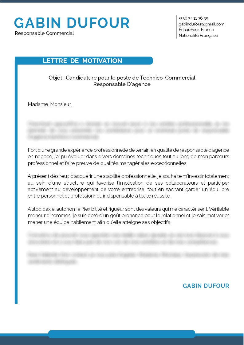 lettre de motivation originale
