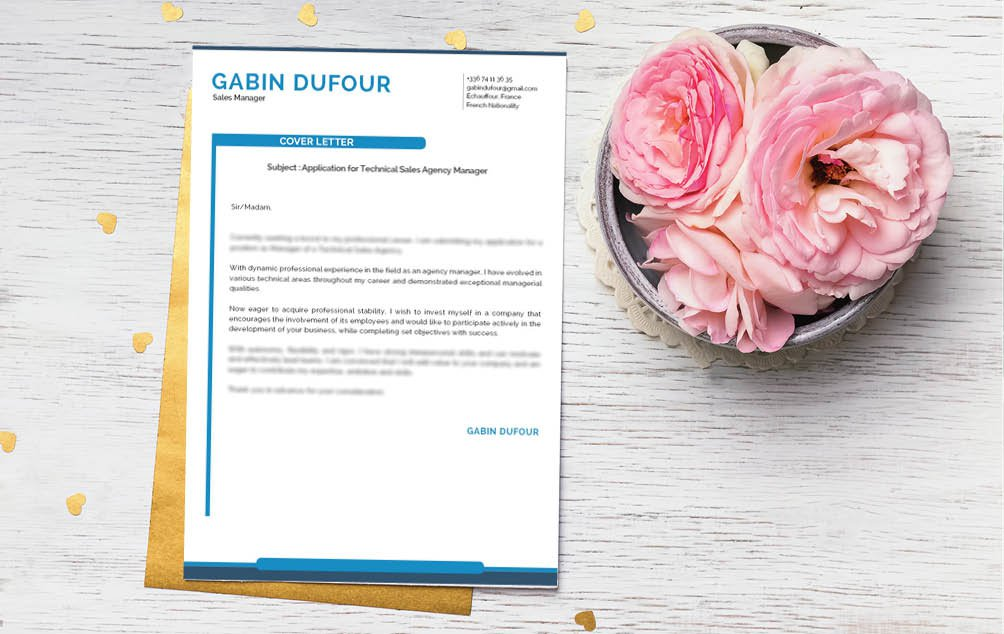 Professionals will simply love this  cover letter format thanks to its designs and format