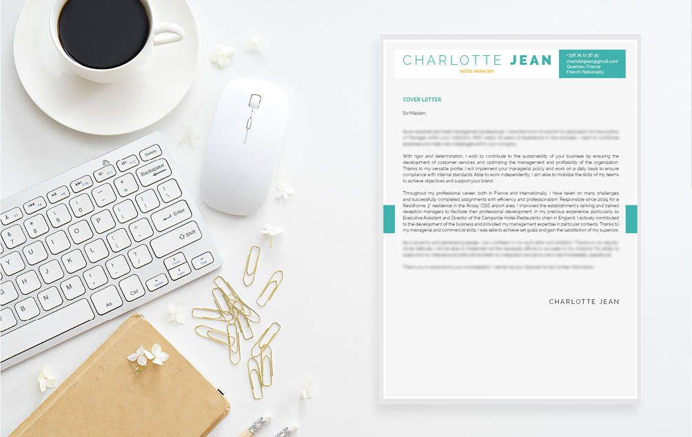 Clean and comprehensive presentation -- a simple  cover letter format for all professionals