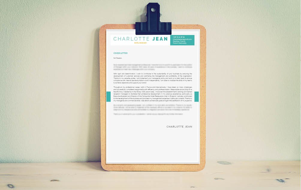 Get creative with this simple cover letter format! A great mix of colors and styles!