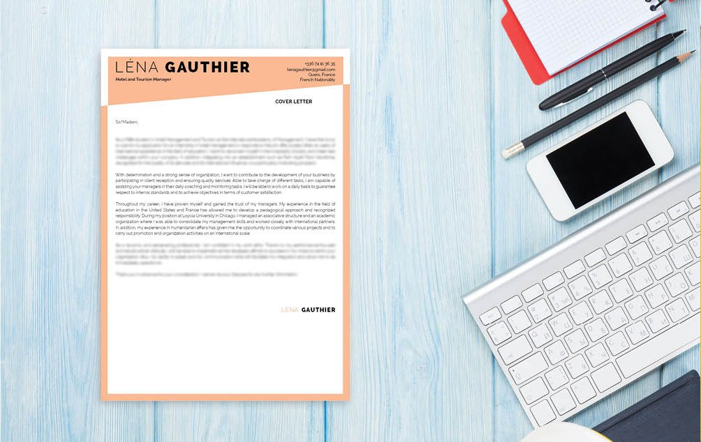 A professional look, an effective format the perfect professional  cover letter`