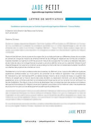 Lettres De Motivation Apprentissage Mycvfactory