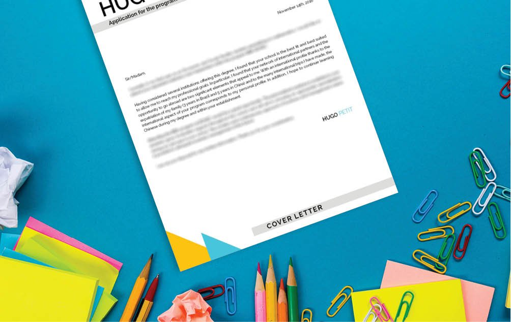 A masteral  cover letter created with great thought and effort to help you land that dream job