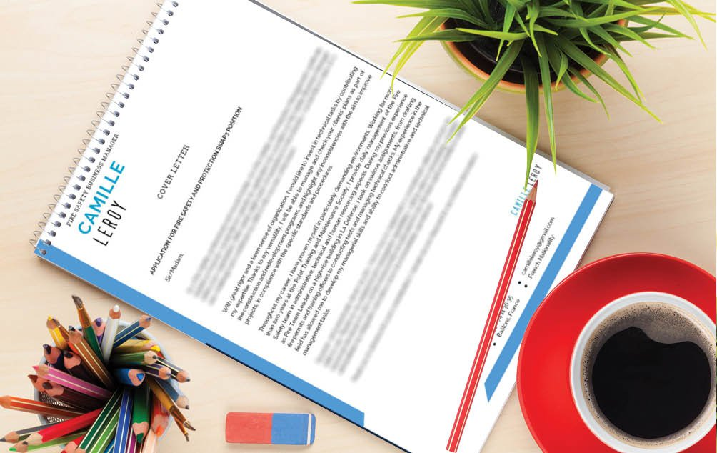 Career seekers in the securit sector will see this professional  cover letter template as the perfect choice