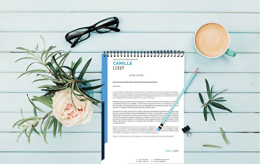 With a great mix of colors, this professional  cover letter template has creativity and functionality figured out