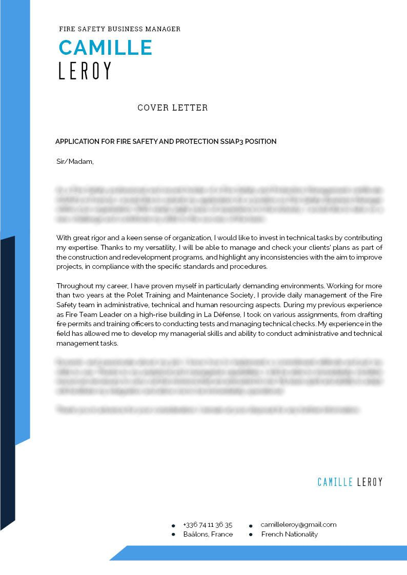 Cover Letter Security  Mycvfactory