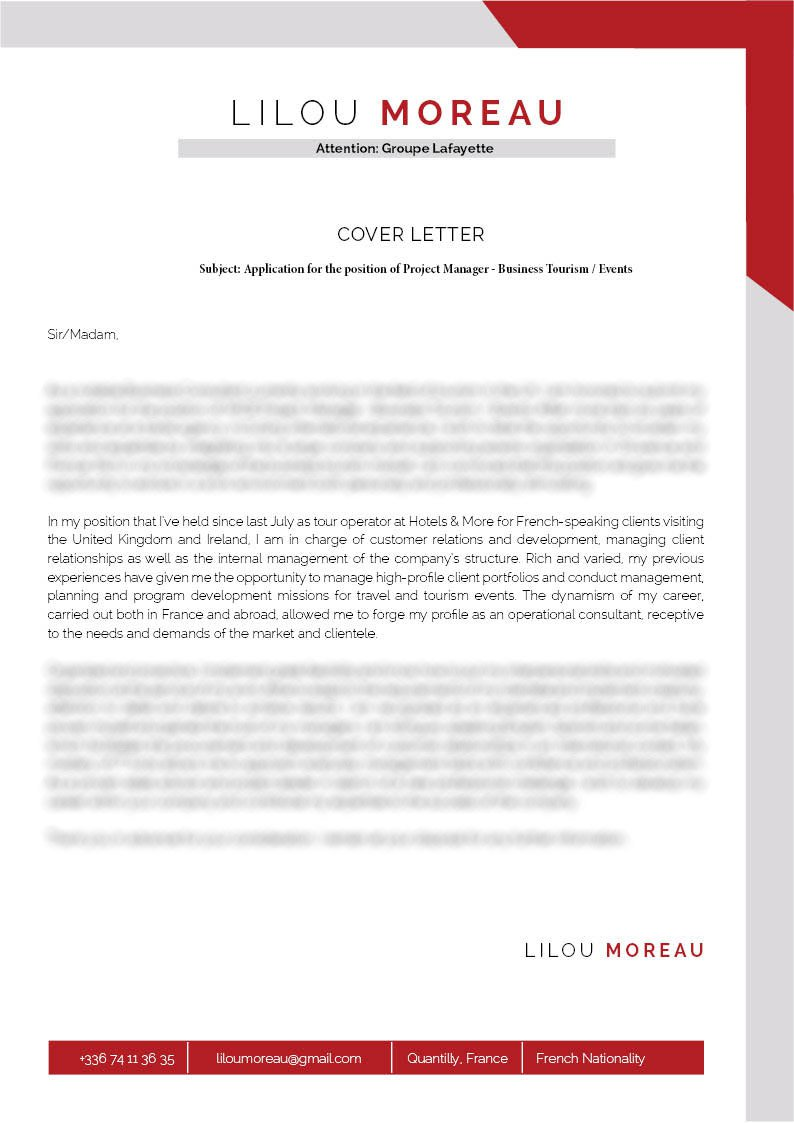 Clean And Well Formatted, A Great Cover Letter To Land That Dream Job!