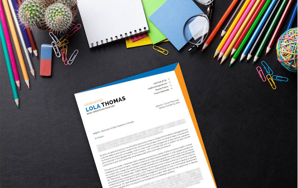 Present yourself as a professional with this  cover letter template