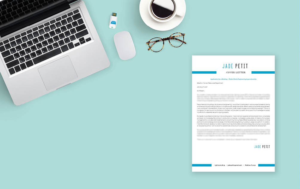 Colors and designs make this the perfect cover letter for all candidates