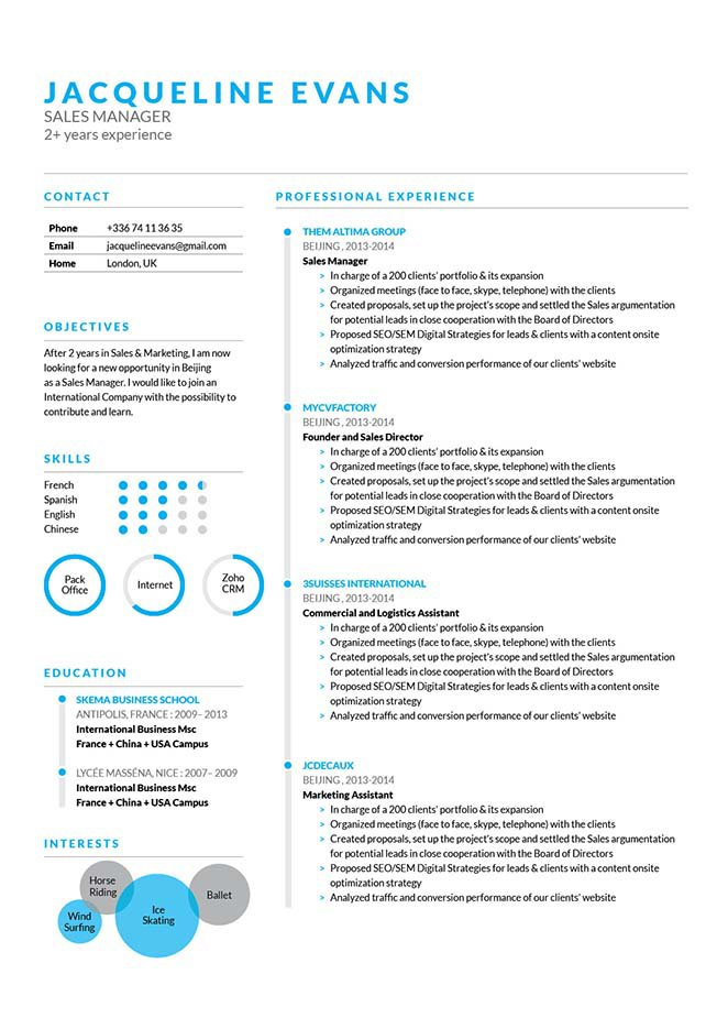 A clean and functional lay out makes this resume template your perfect match