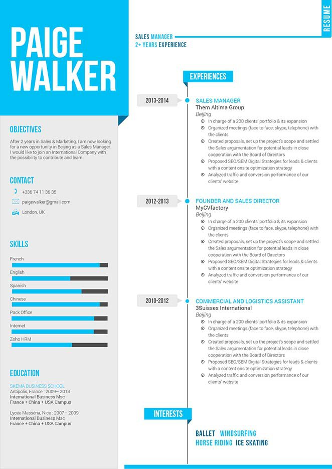 A creative CV template formatted perfectly for you