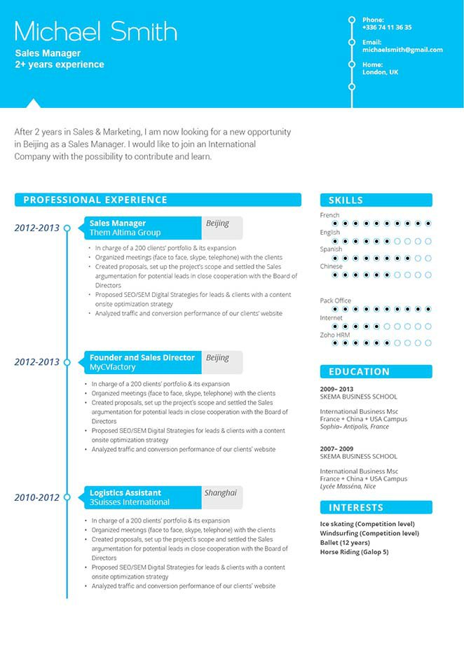 Colors, styles, and text make this the best resume format we have